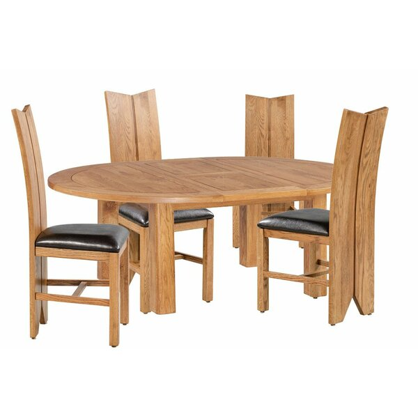 Alicia 5 Piece Extendable Dining Set by Foundry Select