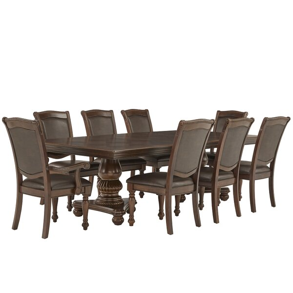 Carreiro Double Pedestal 9 Piece Extendable Dining Set by Darby Home Co