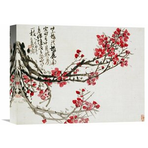 'Plum Blossoms' by Wu Changshuo Painting Print on Wrapped Canvas by Global Gallery