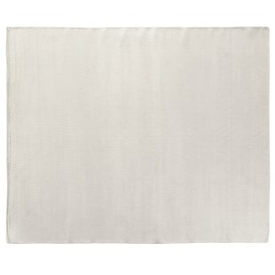 Best Price Herringbone Hand-Woven Silk White Area Rug By Exquisite Rugs