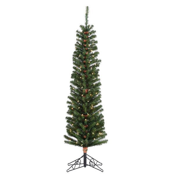 Pre-Lit Green Fir Artificial Christmas Tree with Clear Lights with Stand by Sterling Inc.