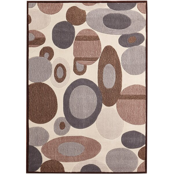 Evelyn Hand-Tufted Beige Indoor Area Rug by Red Barrel Studio