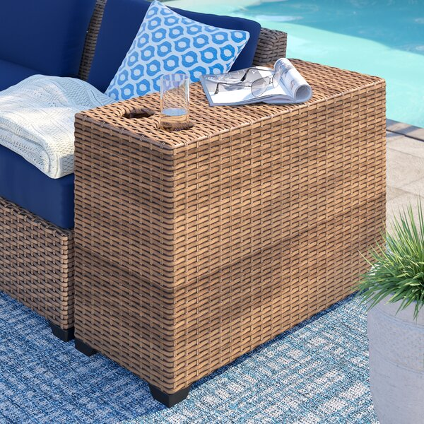 Waterbury Rattan Side Table by Sol 72 Outdoor