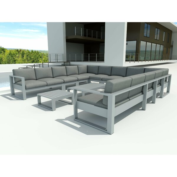Granham 13 Piece Sectional Seating Group with Sunbrella Cushions