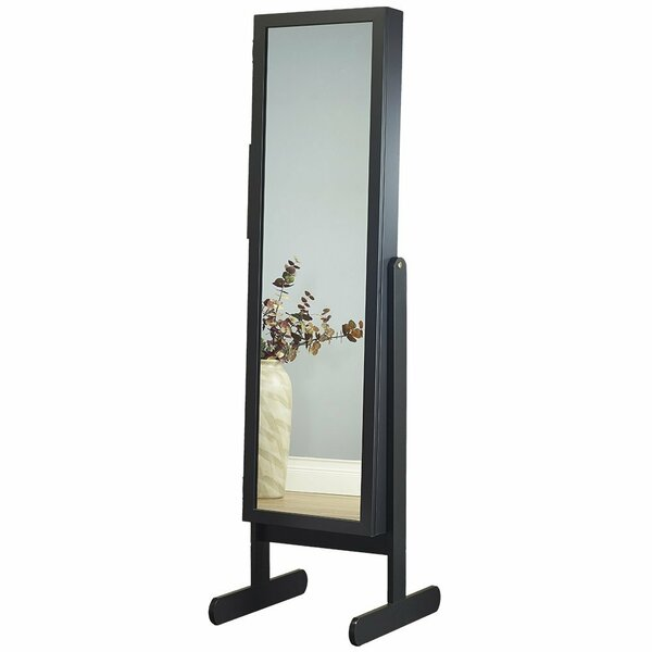 Germaine Makeup Organizational Jewelry Armoire with Mirror by Three Posts