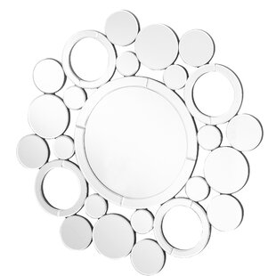 Latitude Run Wheless Contemporary Round Accent Mirror