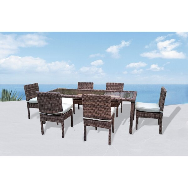 Dutil Premium 7 Piece Dining Set with Cushions by Brayden Studio