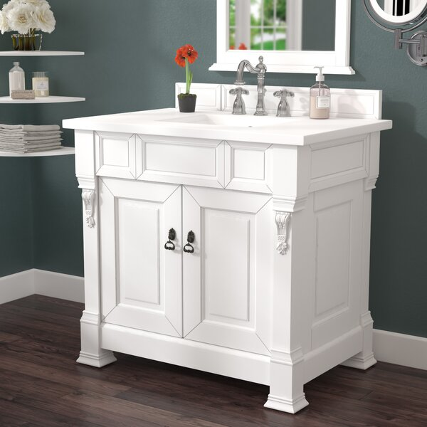 Bedrock 36 Single Antique Black Bathroom Vanity Set by Darby Home Co