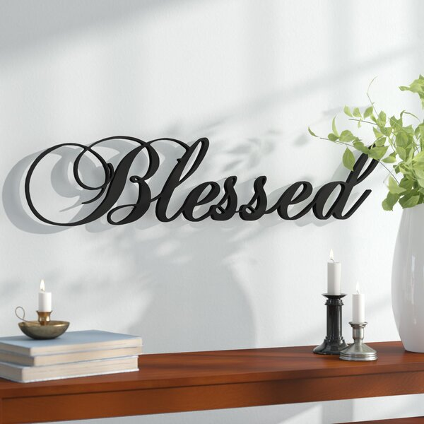 Blessed Steel Wall Décor by Red Barrel Studio