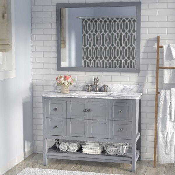 Cline 48 Single Bathroom Vanity Set with Mirror by Three Posts