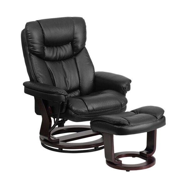 Mateo Manual Swivel Recliner with Ottoman by Latitude Run