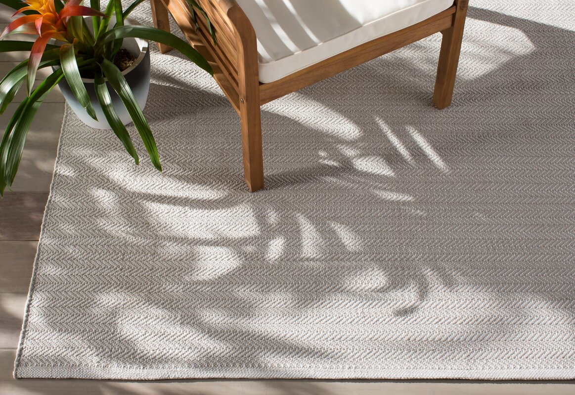 Dash And Albert Rugs C3 Herringbone Gray Indoor Outdoor