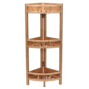 Bamboo Slatted Corner Unit Bookcase Household Essentials