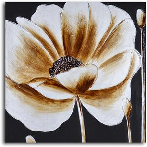 Coffee and White Poppy' Painting on Wrapped Canvas by My Art Outlet