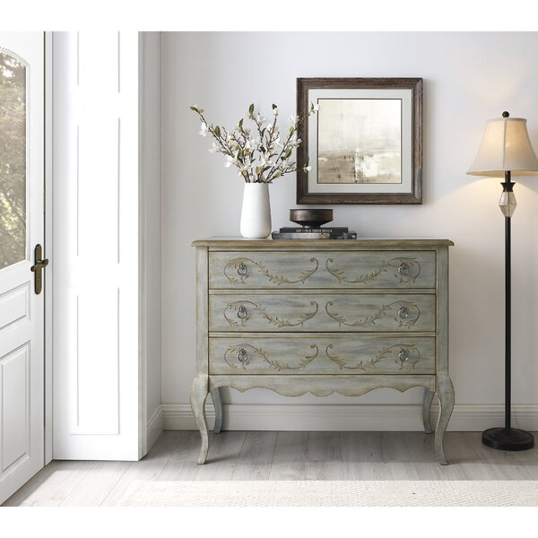 Latham Painted Laurel 3 Drawer Accent Chest