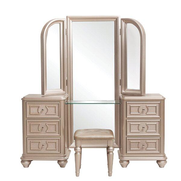 Caozinha Vanity Set with Mirror by Willa Arlo Interiors