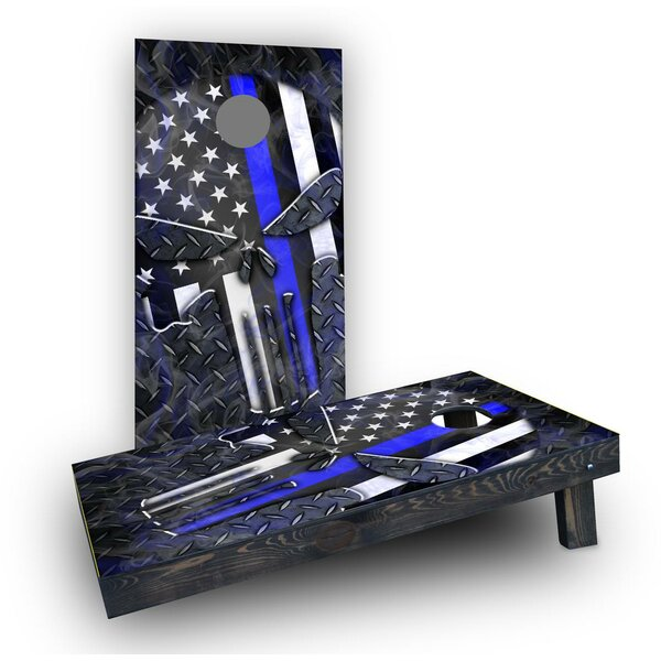 Punisher American Flag Thin Line Cornhole (Set of 2) by Custom Cornhole Boards