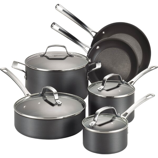Genesis 10 Piece Hard Anodized Cookware Set by Circulon