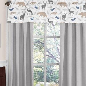 Woodland Animals Window Curtain Valance