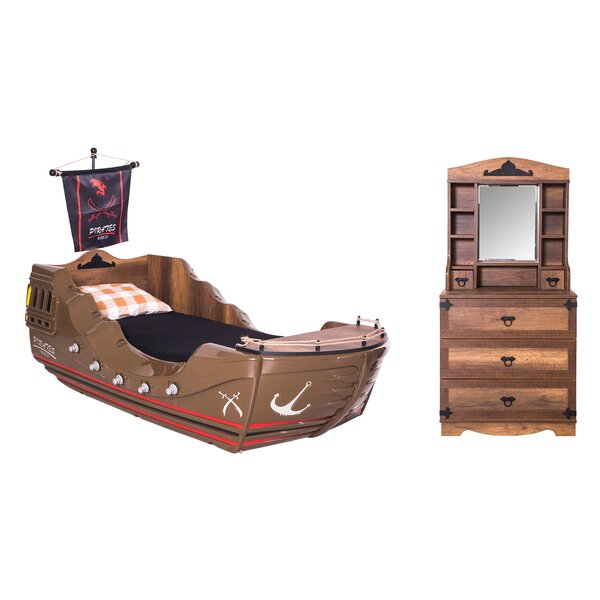 Pirate Twin Sleigh Configurable Bedroom Set by CloudSeller