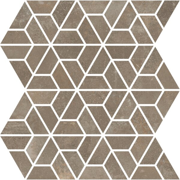Basole 12 x 10 Ceramic Mosaic Tile in Grigio by Interceramic