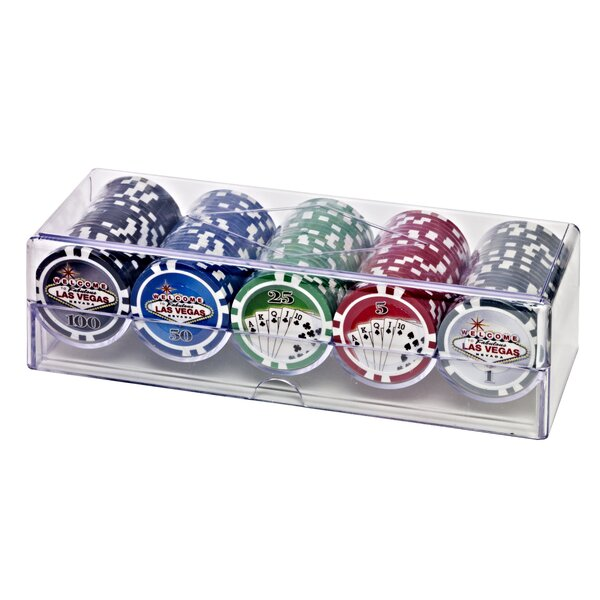 Poker Chip Set by Las Vegas Style