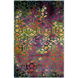 Antoine Light Blue/Fuchsia Area Rug