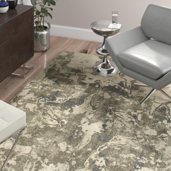 Leonidas Gray/Ivory Area Rug by Wade Logan