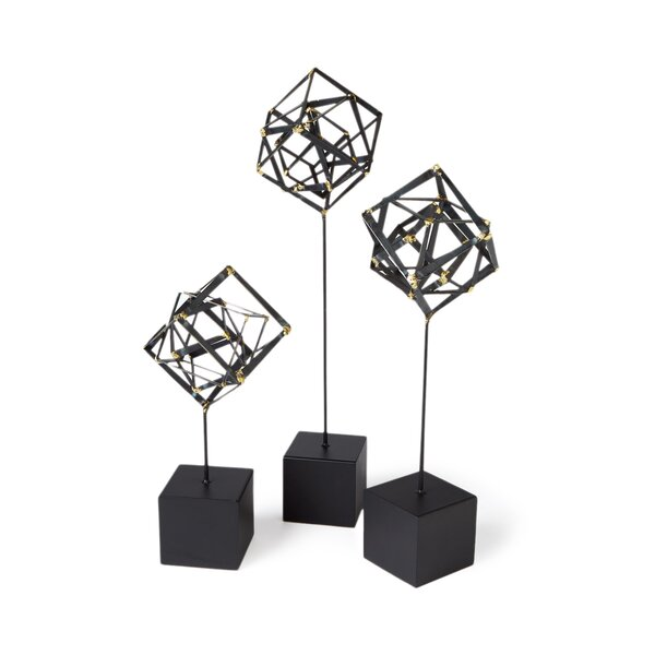 Tilted Cube Sculpture by DwellStudio