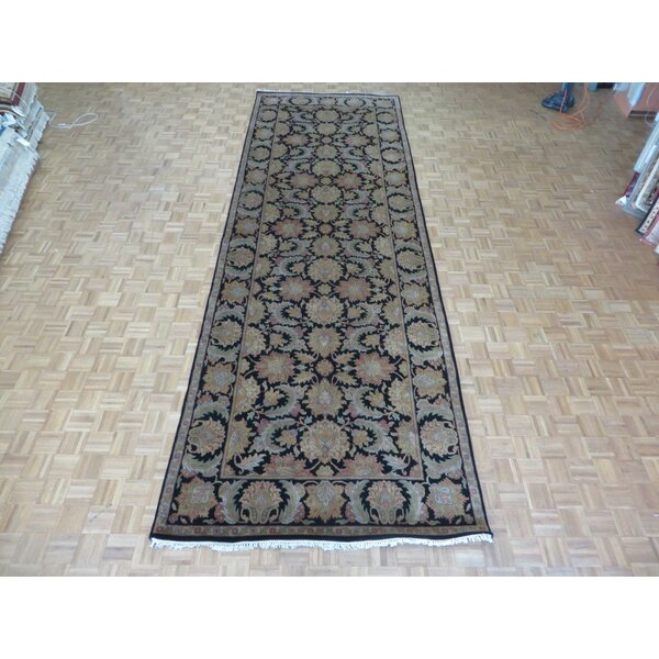 One-of-a-Kind Railey Wide Hand-Knotted Wool Black Area Rug by Astoria Grand