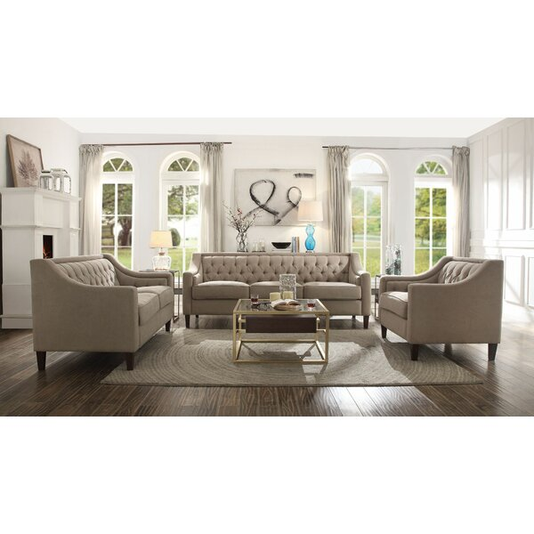 Featherstone 3 Piece Living Room Set By Darby Home Co