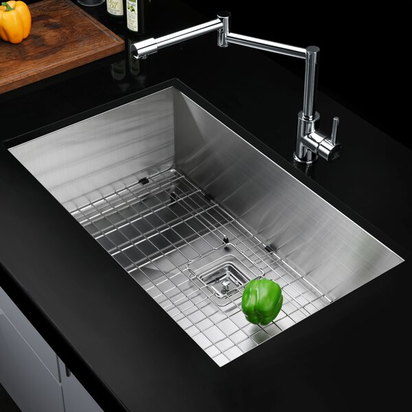 Vanguard Series 30 L x 18 W Undermount Kitchen Sink by ANZZI