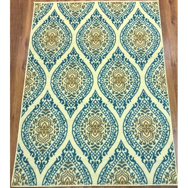 Emilio Blue Indoor Area Rug by Charlton Home
