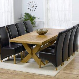 Essgruppe Rochelle mit ausziehbarem Tisch und 8 Stühlen von Home Etc