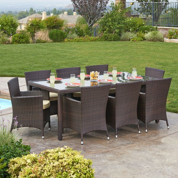 Kennerdell 9 Piece Patio Set with Cushions by Brayden Studio