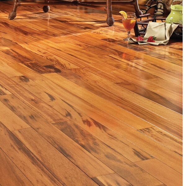 5 Engineered Brazilian Tigerwood Hardwood Flooring in Natural by Easoon USA