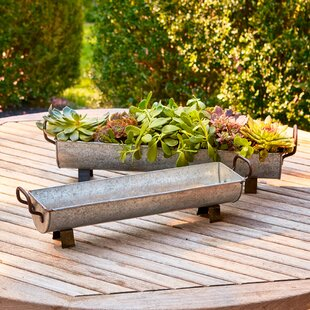 Staunton 2 Piece Metal Pot Planter Set