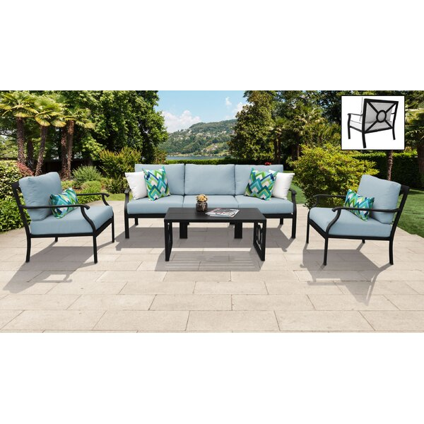 Madison Ave 6 Piece Sofa Seating Group with Cushions by kathy ireland Homes & Gardens by TK Classics