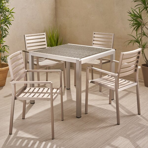 Naima Outdoor 5 Piece Dining Set by Breakwater Bay