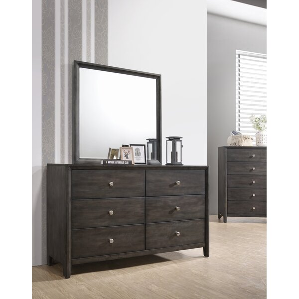 6 Drawer Double Dresser with Mirror by Gracie Oaks Gracie Oaks