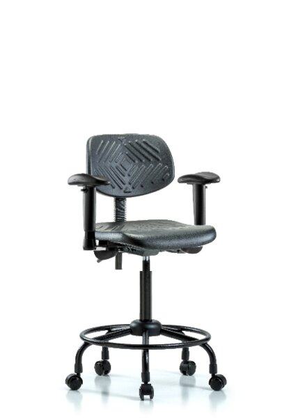 Round Tube Base Ergonomic Office Chair by Blue Ridge Ergonomics