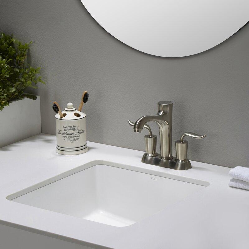 Bathroom Sinks Square kraus elavo™ square undermount bathroom sink with overflow