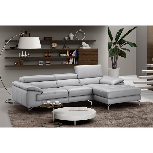 Armiead 98-inch Leather Sectional by Orren Ellis Orren Ellis