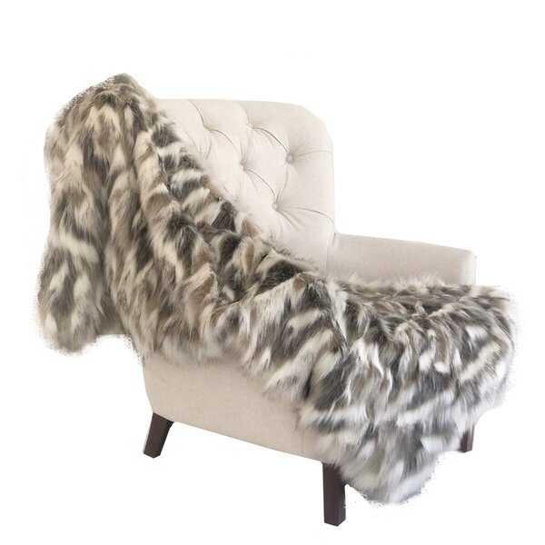 Bessey Handmade Faux Fur Throw by Foundry Select
