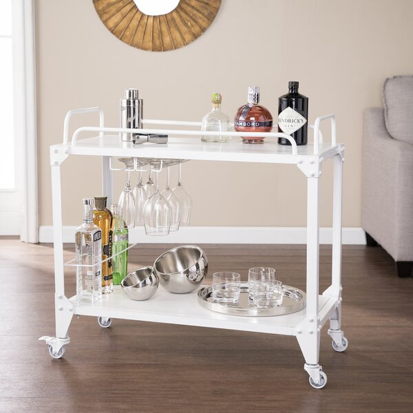 Worthley Mobile Bar Cart by Latitude Run