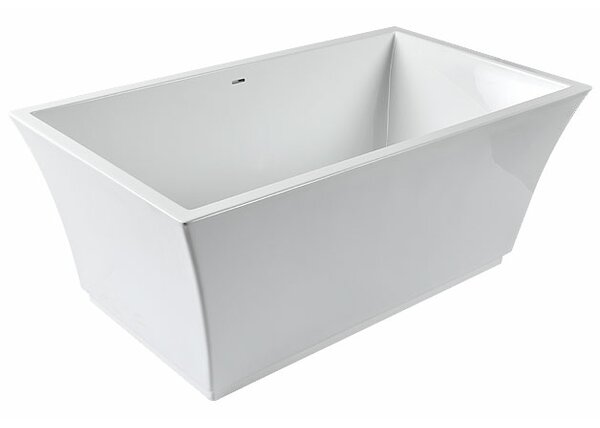 Nela 60 x 32 Freestanding Soaking Bathtub by Clarke Products