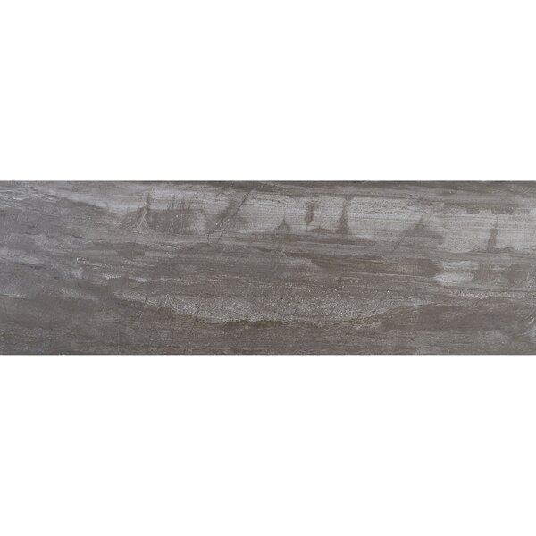Mansfield 12 x 36 Porcelain Wood Look Tile in Smoky River by Itona Tile