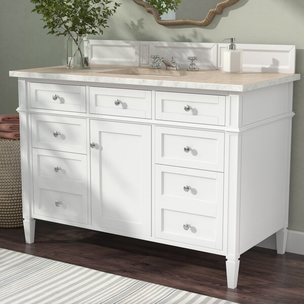 Deleon 48 Single Cottage White Bathroom Vanity Set by Darby Home Co