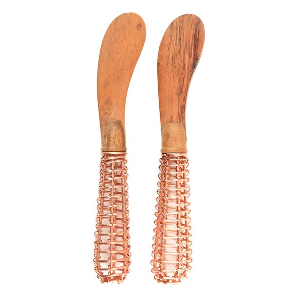 Princess Acacia Wood & Wire 2 Piece Spreaders by Mistana