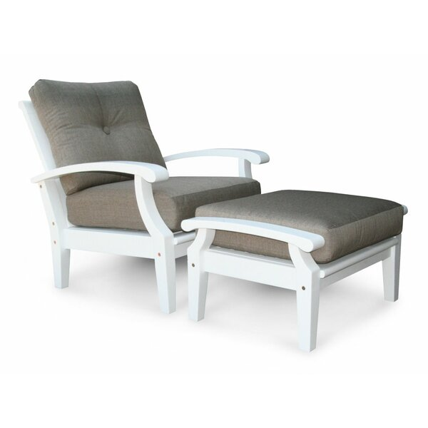 Cayman White Lounge Chair with Cushion by Douglas Nance